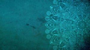 mandala, turquoise, background