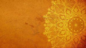 mandala, yellow, background